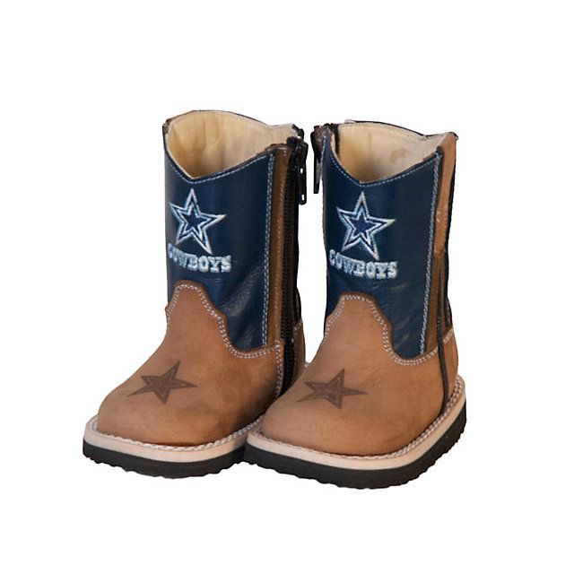 Grab your little ones a pair of the NFL Dallas Cowboys Infant/Toddler Blue Western Work Boot from shop.dallascowboys.com