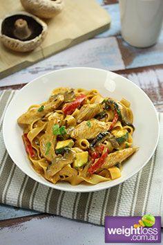 Chicken Stroganoff Recipe. #ChickenRecipes #HealthyRecipes #WeightLossRecipes weightloss.com.au