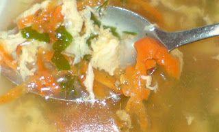 #Retete simple, #mancare delicioasa: #Supa simpla cu #oua si #ciuperci