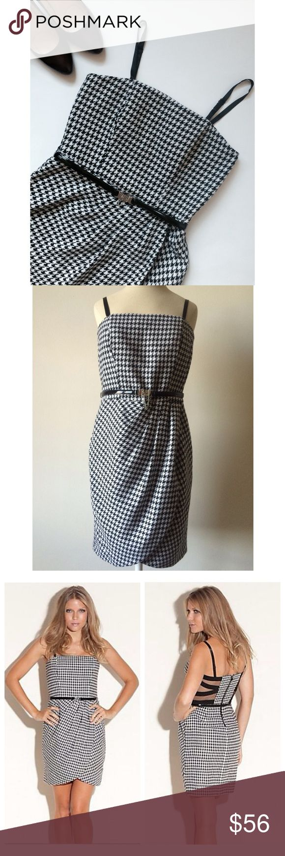 NWT Guess Houndstooth Dress NWT Guess dress with belt and removable straps. You can wear this dress by it's own or with shirt and turtleneck during the winter times. Guess Dresses