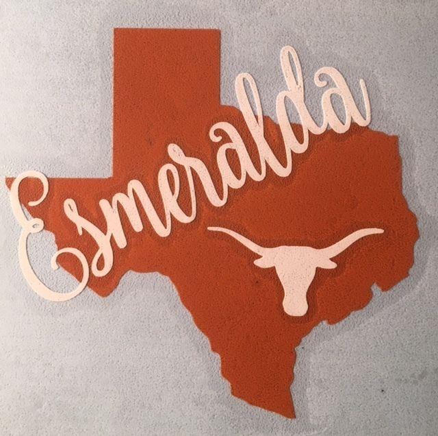 Custom name texas longhorns decal for your yeti rambler tumbler colster rtic