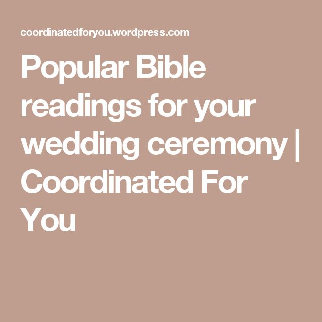 Popular Bible readings for your wedding ceremony | Coordinated For You