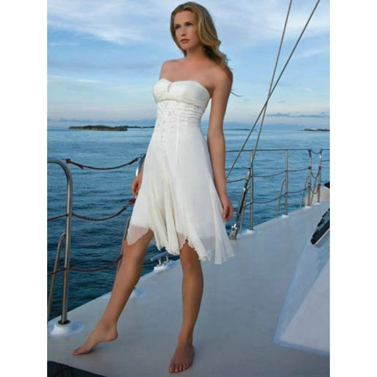 Casual Beach Wedding Dresses Short