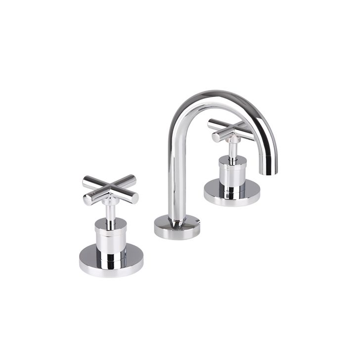 Mondella WELS 3 Star Chrome Resonance Ceramic Disc Basin Set