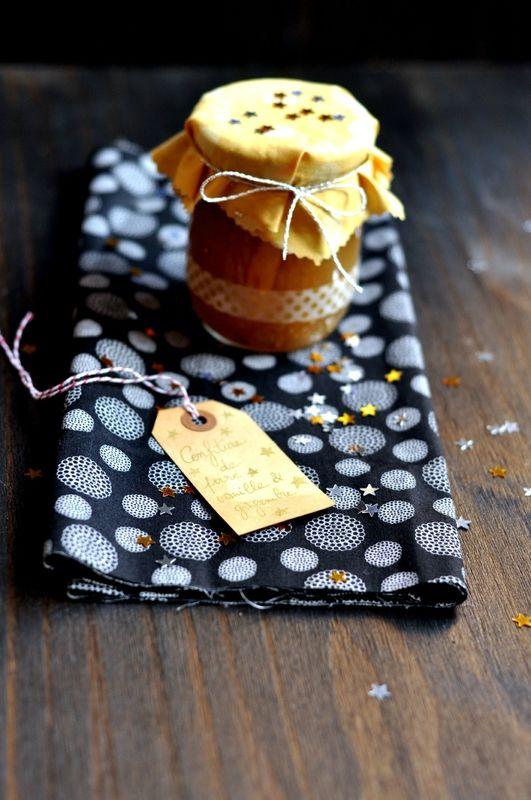 Confiture de poires au gingembre et à la vanille - cadeau gourmand
