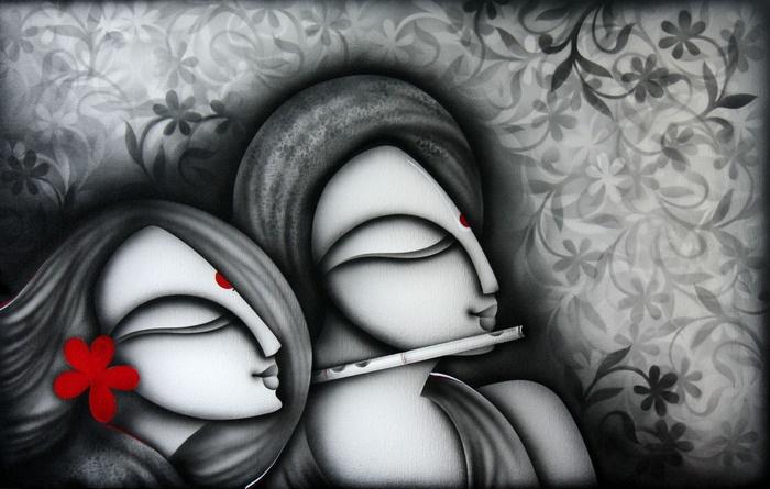 Indian Art - Prakash K - Love