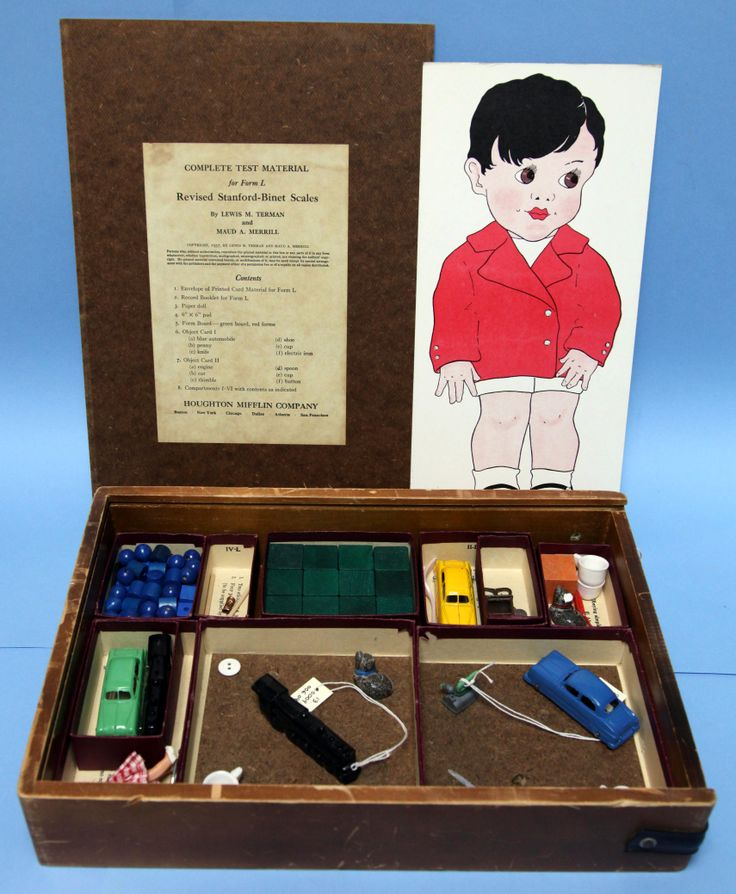 c. 1954.  #NIH researchers used this Stanford-Binet Scale Intelligence Test for clinical and neuropsychological assessments of children.