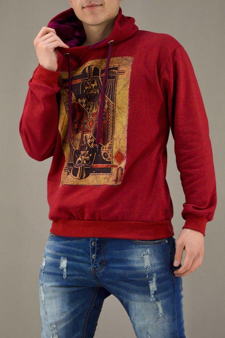 Ανδρικό φούτερ Vader Τραπουλόχαρτο FOUT-1216-bu | Φούτερ > Sport