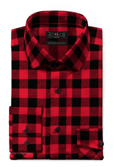 Red flannel checked Shirt