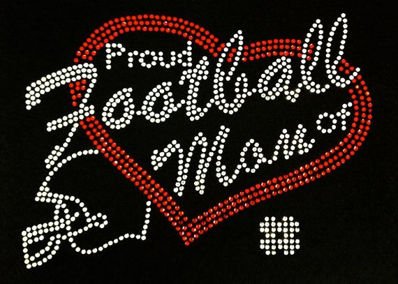 Rhinestone Iron On Football Mom Rhinestone Transfer by BlingMeBaby, $10.99