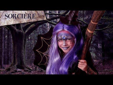 Tutoriel maquillage Sorcière fille - YouTube