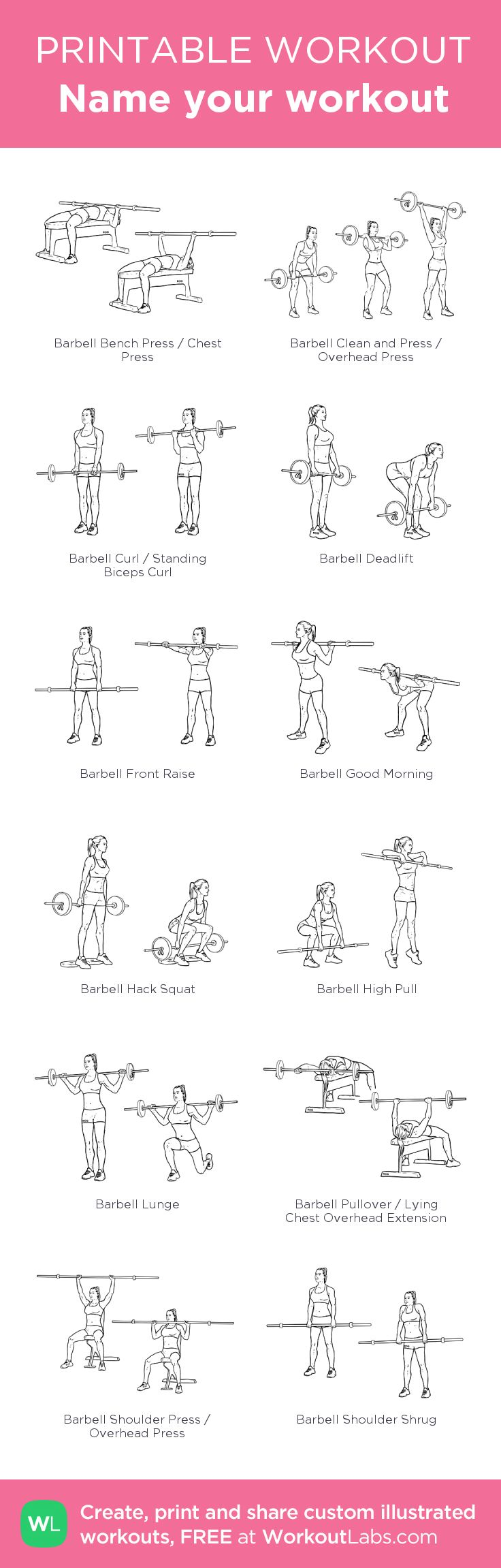 Workout 1-my visual workout created at WorkoutLabs.com •  #customworkout
