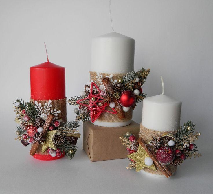 Оформление НГ свечей. Новогодний декор. Подарок своими руками. Handmade NY candles decor. Candle crafts. Handmade gift.