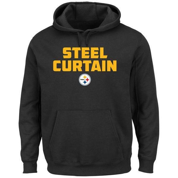 Pittsburgh Steelers Black STEEL CURTAIN Pullover Sweatshirt