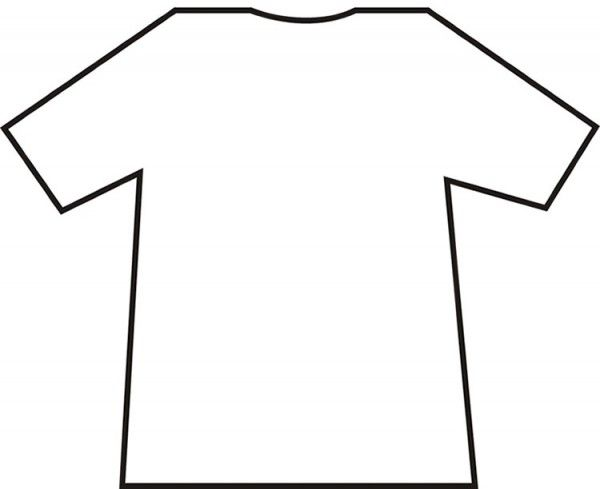 Bright image for free printable t shirt template
