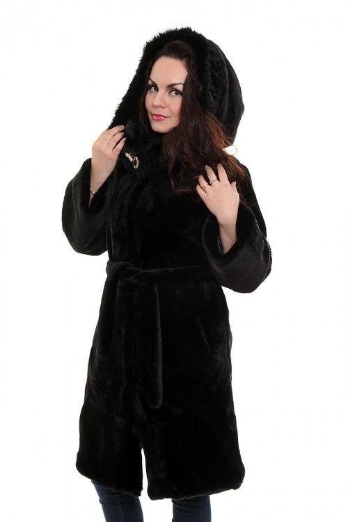 Шуба А1926 Размеры: 42,44,46,48,50 Цвет: черный Цена: 3000 руб.  http://optom24.ru/shuba-a1926/