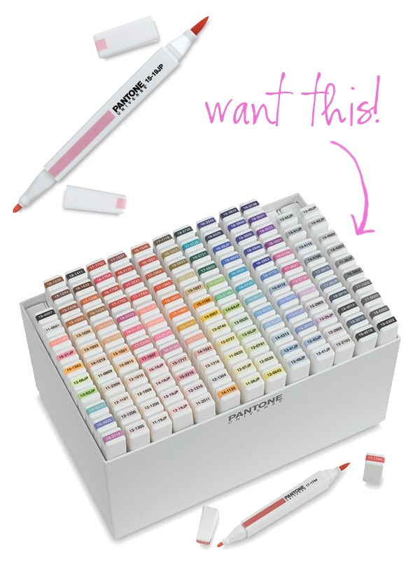 Pantone markers... the Promo nerd in me needs this.