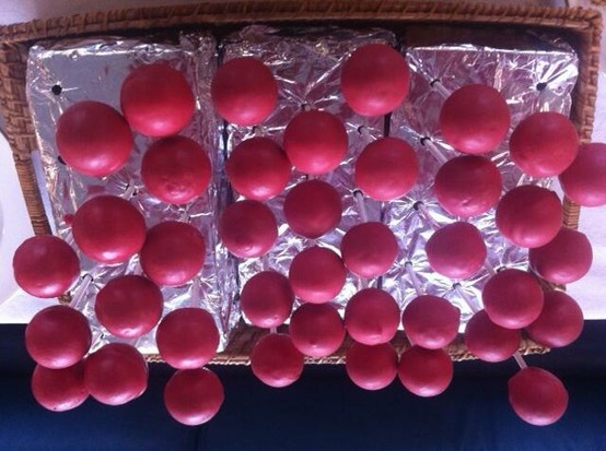 Red nose cake-pops. Superb. We raised over £1,400 for Comic Relief at Red Nose Day 2013.