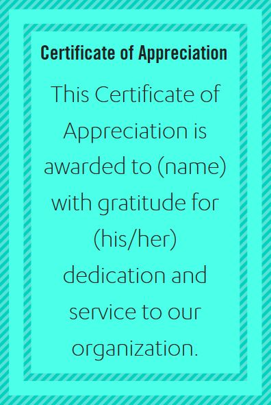 Examples of Certificate of Appreciation Wording for Nurses and Other Healthcare Employees and Staff   from PaperDirect