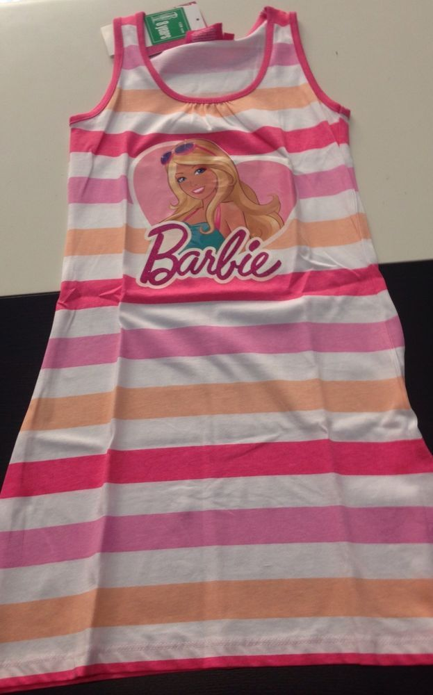 Barbie vestito rosa prendisole robe dress kleid bambina 8 anni