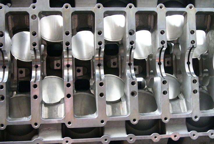 Bugatti W16 engine block.