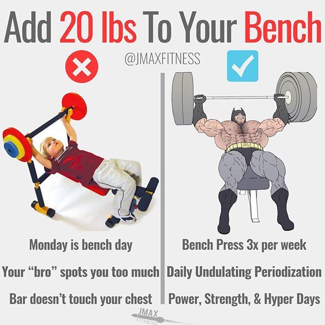 Add 20lbs To Your Bench Press By Jmaxfitness To Bench A Lot You Must Bench A Lot If You Want To Increase Bench Press Strength Training Routine Gym Tips