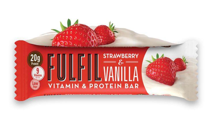 Epres Vanillás finomság a FulFil Protein szelet választékában