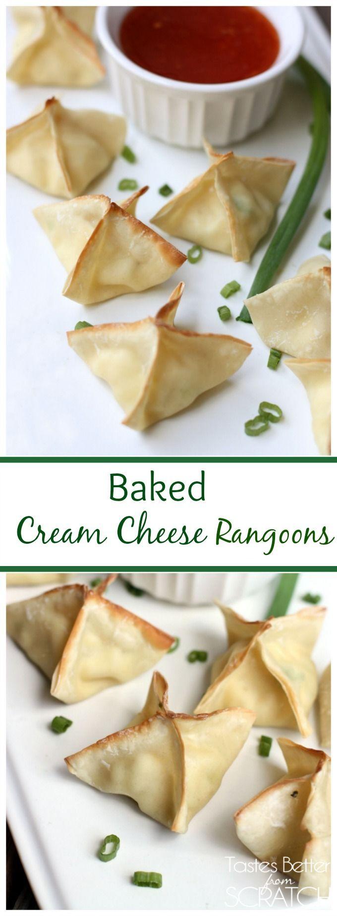 Baked Cream Cheese Rangoons are SO easy and taste amazing! Recipe on TastesBetterFromScratch.com #rangoons #creamcheese