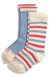 Etiquette Clothiers 'Happy Stripe' Socks (2-Pack) (Toddler & Little Kid).