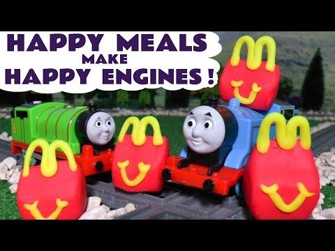 Thomas and Friends McDonald's Happy Meal Play Doh Surprise Toys for kids with Paw Patrol TT4U - YouTube