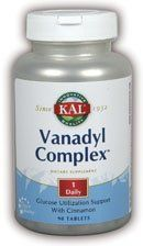 Vanadyl Complex 10mg - 90 - Tablet by Kal. Save 25 Off!. $9.31. Advanced Formula with GTF-Plex - a Special Blend of High Activity Spices. Kal. Vanadyl Complex 10mg by Kal 90 Tablet Features Advanced Formula with GTF-Plex - a Special Blend of High Activity Spices. Plus Chromium Picolinate and Vitamin C for Maximum Activity. Size 90ct 10mg Directions As a dietary supplement take 1 tablet with a meal or a glass of water. To maximize absorption avoid taking additional chromium supplemen...