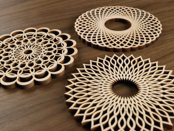 Great idea to use with MagScapes magnetic wallpaper and magnets. Hardwood Graphic Coasters -The Spiral Series