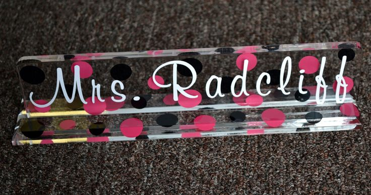 Personalized Desk Name Plate - 10 - TEACHER GIFT - End of the Year - Student Teacher - Graduation. $15.00, via Etsy.