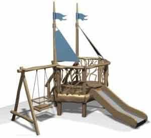 Деревянная детская площадка 3  Серия CLASSIC для детей (1-6 лет)