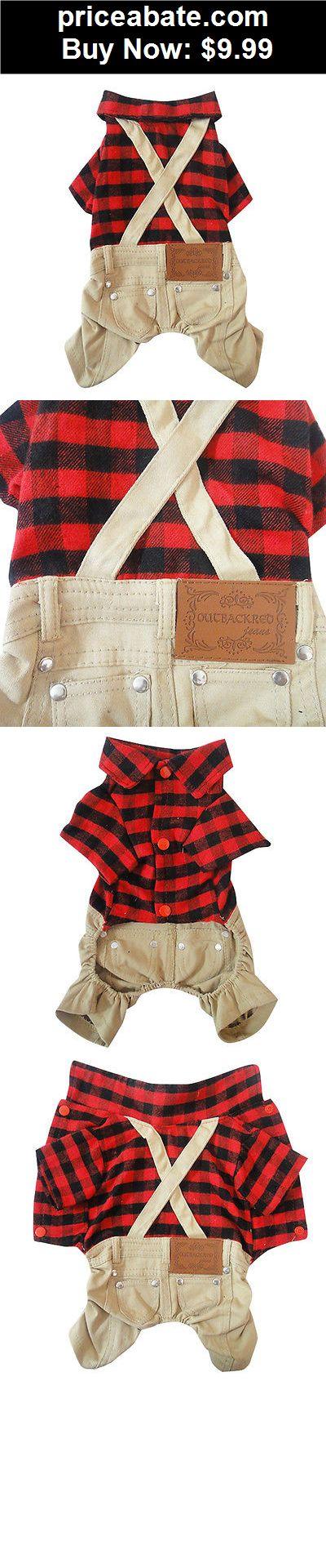 Animals-Dog: Dog Pet Cat Boy Plaid Jumpsuit Coat Jacket Shirt Pet Puppy clothes Apparel - BUY IT NOW ONLY $10.99