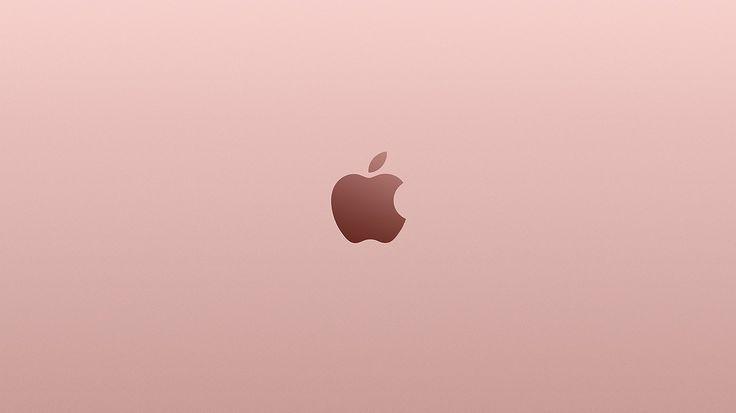 Au11 Apple Pink Rose Gold Minimal Illustration Art Apple Desktop Ideas Of Apple Desktop Appled Gold Macbook Wallpaper Macbook Wallpaper Cute Bear Drawings