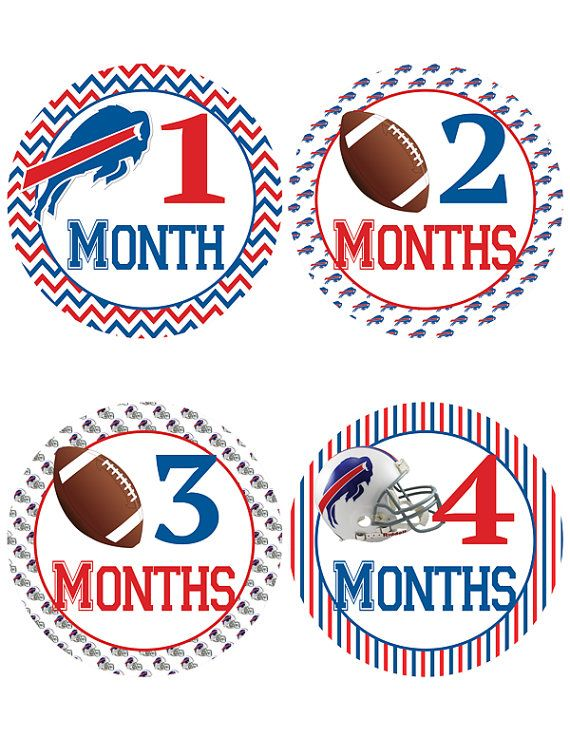 Buffalo Bills Baby Milestone Stickers Football by OhBabyStickers