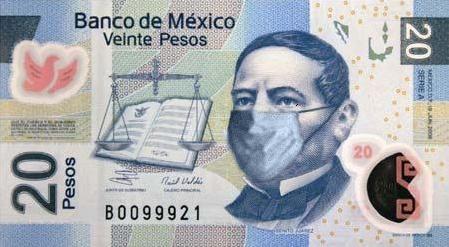 Un día se mueren todos LOS BILLETES MEXICANOS por eso de la influenza AH1N1 y se van al cielo. San Pedro los rec