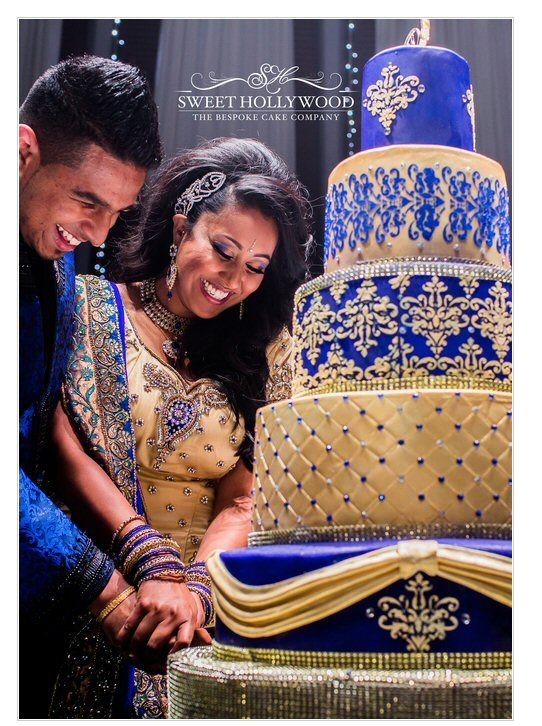 Indian Weddings Inspirations. Blue Wedding Cake. Repinned by #indianweddingsmag indianweddingsmag.com #gold