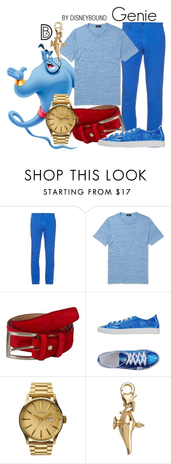"""""""Genie"""" by leslieakay ❤ liked on Polyvore featuring Polo Ralph Lauren, 40 Colori, Nixon, Disney, men's fashion, menswear, disney, disneybound and disneycharacter"""