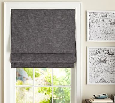 Emery Linen/Cotton Cordless Roman Shade #potterybarn