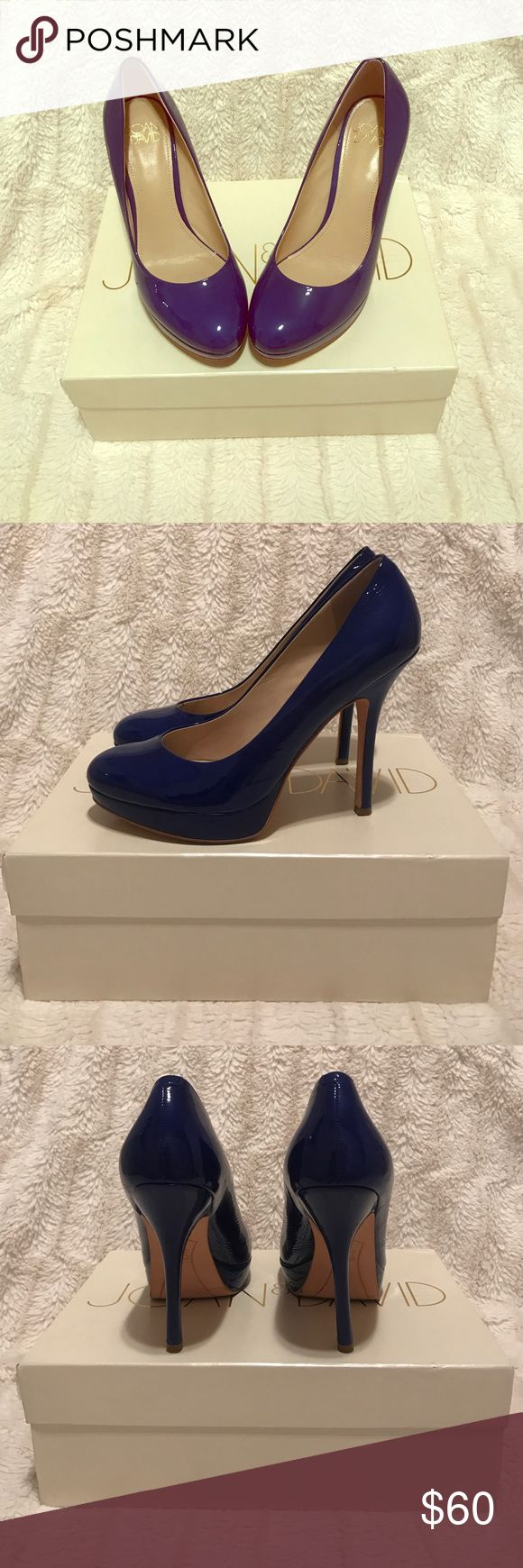 Joan & David Blue Patent Heels Beautiful Blue Pumps by Joan & David. Worn a few times, but in great condition. Heel is about 3.5 inches but has platform which makes easier to walk in. Joan & David Shoes Heels