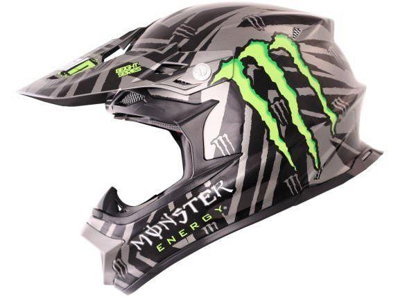 Casque Cross O'NEAL MX 812 Monster Energy modèle 2012 - Equipement moto cross/Casques Cross - la-caverne-du-casque-moto