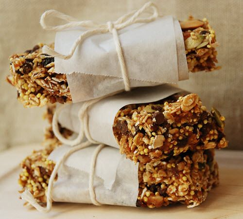 Sweet idea to wrap snacks such as granola bars wax paper and sweet idea to wrap snacks such as granola bars wax paper and twine would also be nice diy the gift of food pinterest granola snacks and bar ccuart Images