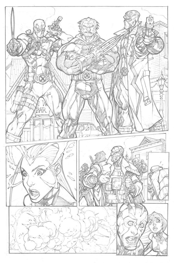 X-Force Sample Page 1 by mikebowden on DeviantArt