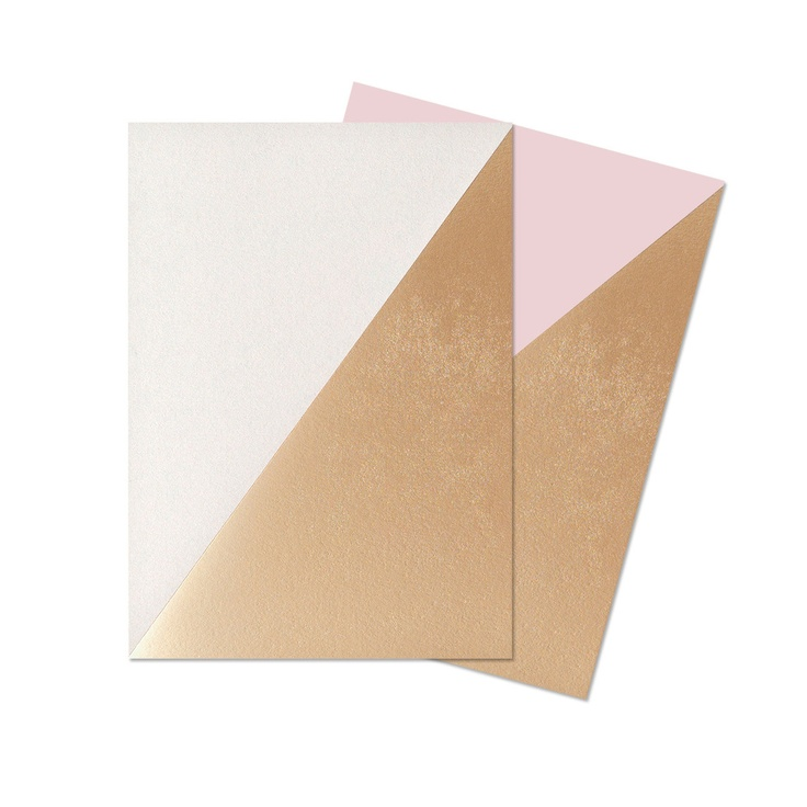 Geometric notebooks in Bright White & Candy Pink