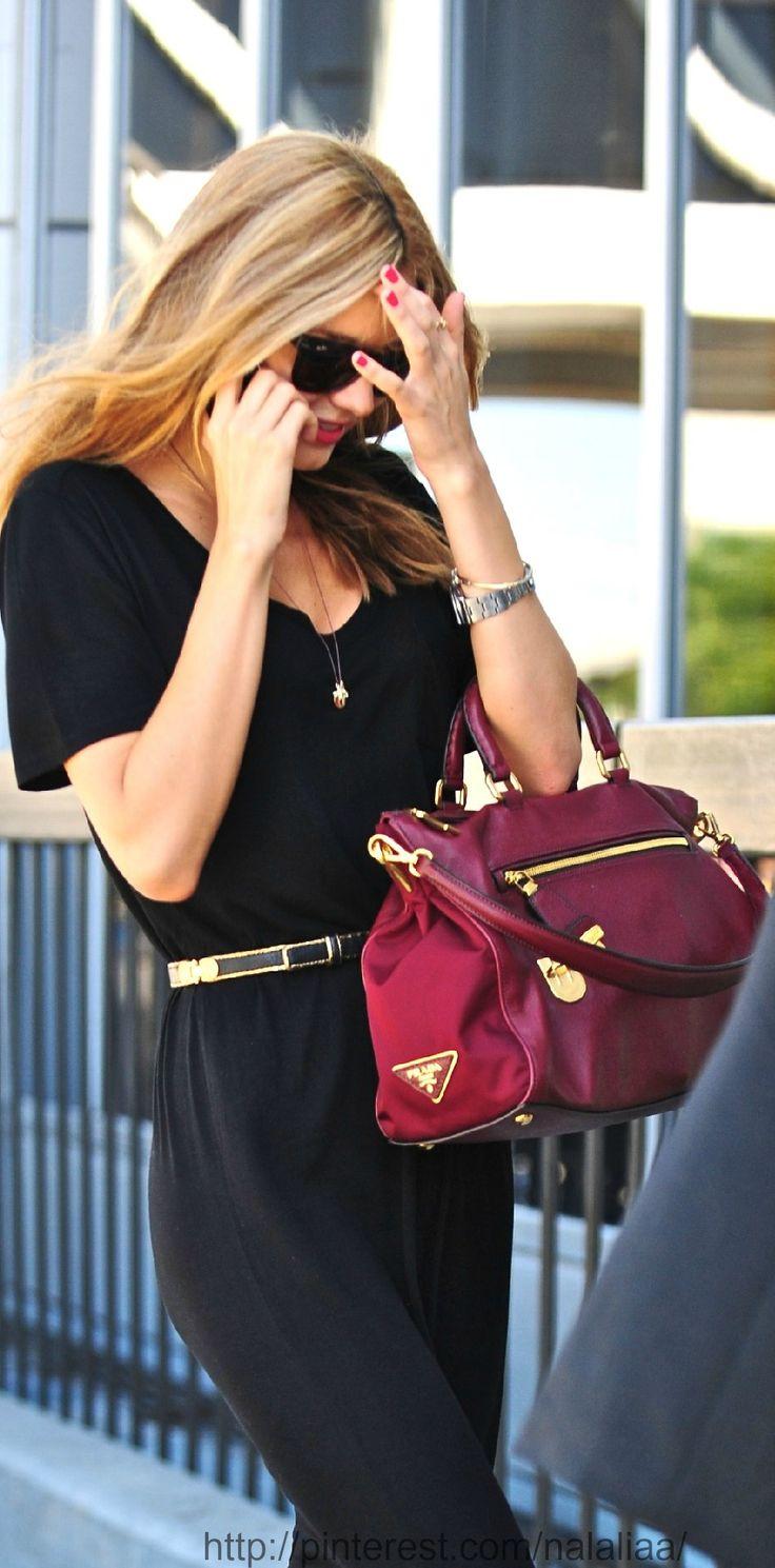 Street style - Miranda Kerr - need a black jumpsuit