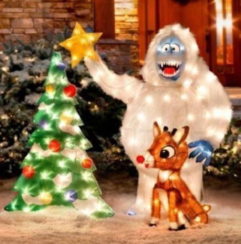 Bumble tree lighted animated christmas outdoor decor yard display snow