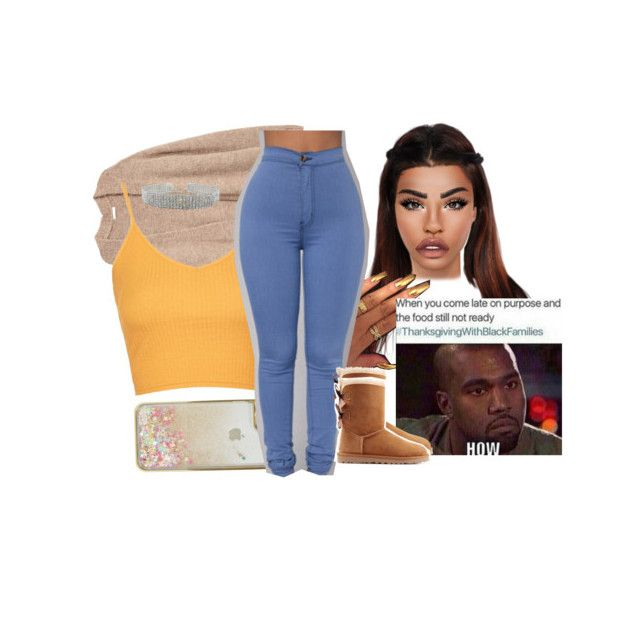 """""""Untitled #411"""" by princessaesthetic ❤ liked on Polyvore featuring Palmer's, Skinnydip, Topshop, UGG Australia and Lime Crime"""