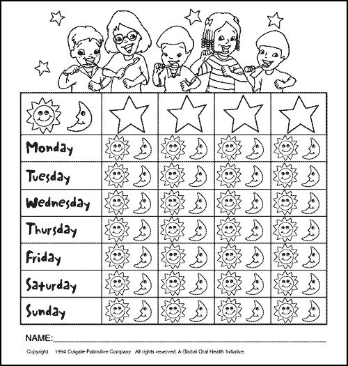 20 best Printable Brushing Charts for Kids images on Pinterest - kids chart